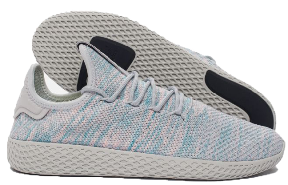 Фото Adidas x Pharrell Williams Tennis Hu Голубые - 1